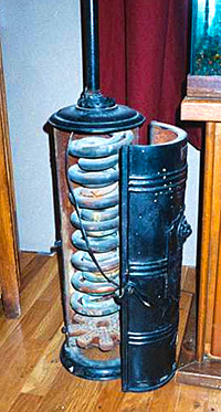 Ancient on demand hot water heater
