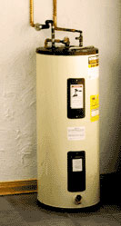 hot water heater in basement