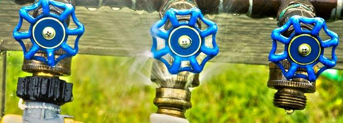 broken faucet leaking water