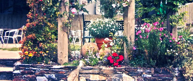 garden with plumbing issues