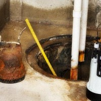 sump pit in the basement of a toronto home