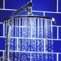 shower in bathroom with water pressure problem