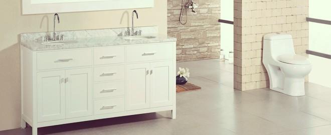 high end bathroom featuring double vanity sinks