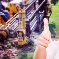 woman thumbs up about horizontal directional drilling