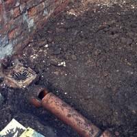 drain pipe requiring drain lining