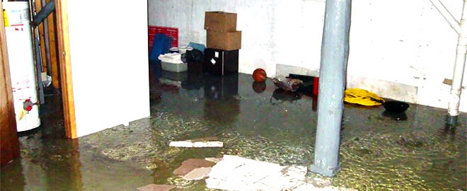 flooded basement in toronto home