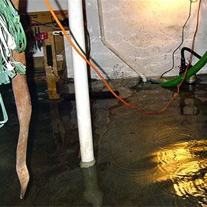 water damage present after a flood in the basement of a toronto home