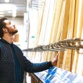 man shopping for lowcost home improvement project in toronto hardware store