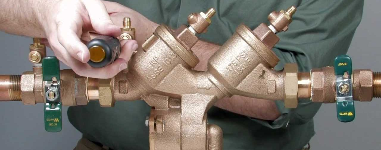 backflow prevention device being inspected by a toronto backflow technician