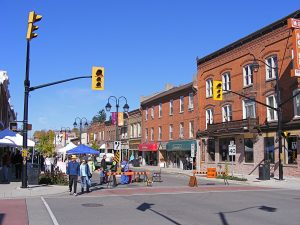 georgetown, ontario viewing the downtown area