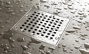 shower drain that needs to be unclogged